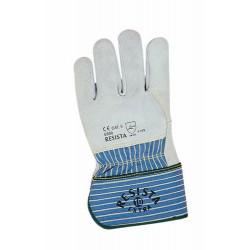 Schutzhandschuh aus solidem, grauem Rindsspaltleder, Fi…
