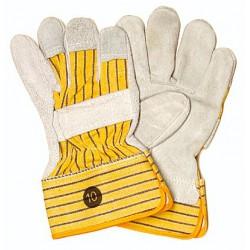 Chromspaltleder-Handschuh. Fingernägel-, Knöchel- ...