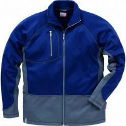 Sweatshirt-Jacke aus 100% Polyester. Durchgehender Reis…
