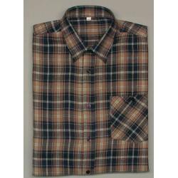 Flanellhemd, langarm, 100% Baumwolle, Stocklänge 90 cm,…