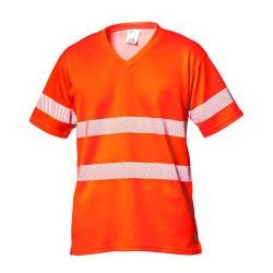 2606 T-Shirt HiVis EN 20471 mit V-Ausschnitt