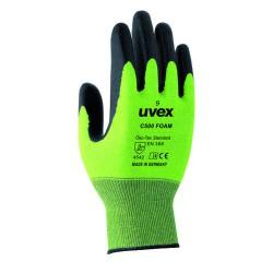 UVEX C500 Foam Schnittschutz-Handschuh aus Bambus-Viskose/HPPE/Glas/Elasthan