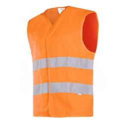 Warngilet EN 20471, 100% Polyester, Klettverschluss