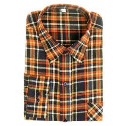 Flanellhemd, langarm, 100% Baumwolle, Stocklänge 90 …
